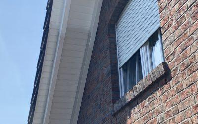 Dachunterstand mit Wetterschutzfarbe